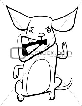 angry puppy coloring page