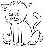 cat character coloring page