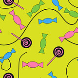 Seamless pattern candy