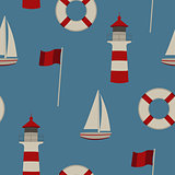 Seamless pattern summer by the sea