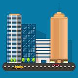 business smart city life concept. Capital transportation