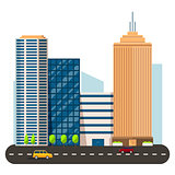 business smart city life concept. Capital transportation