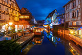 Christmas Little Venice in Colmar, Alsace, France