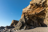 Small cliffs on la Pointe du Payre in Vendee (France)