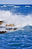 Heavy sea and sea foam, Gulf of Mexico