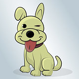 Happy Dog cartoon vector illustration.