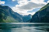 Geiranger fjord scenic, Norway