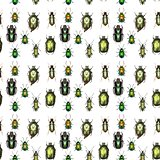 Green Gold Pattern - Set of Green Beetles