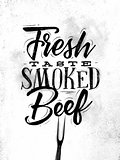 Poster smoked beef