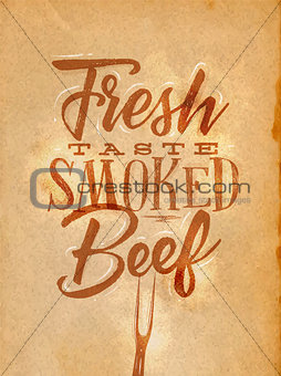 Poster smoked beef craft
