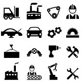 Factory and industry icons