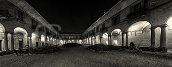 Ancient courtyard in Varese