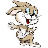 Cheerful Blue Eyed Rabbit