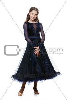 Beautiful teenage ballroom dancer
