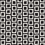 Vector Seamless Black and White Hand Drawn Rectangle Pavement Pattern