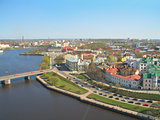 Top-view of Vyborg, Russia