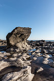 Rock formation at the Pointe du Payre