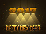 Happy New Year 2017 greeting card design for you