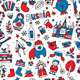 Russia, seamless pattern for your design