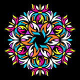 Colorful geometric abstract round mandala