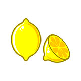 Creative vector lemon illustration