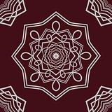 Detailed mandala on dark background