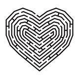 Labyrinth in a shape of heart