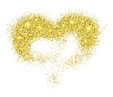 Golden glitter heart