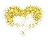 Golden glitter heart