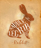 Rabbit cutting scheme craft