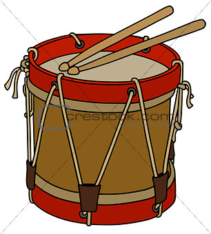Old military drum