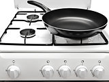 Frying Pan At The White Gas Stove