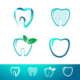 Dental Tooth Logo Set
