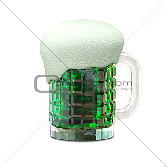3D Illustration of a Mug with Beer