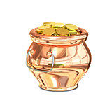 3D Illustration of Golden Pot