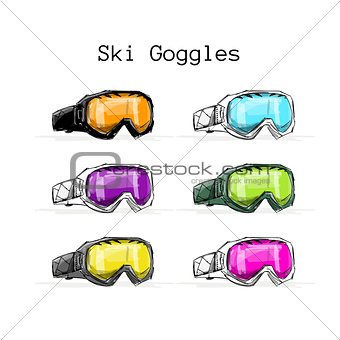 Ski googles, sketch for your design