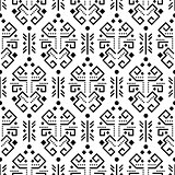 Tribal ornament seamless vector pattern.
