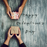 gifts and text happy valentines day