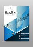 Academic book cover design. Journals, conferences, articles. Vector