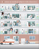 Location hospital with characters