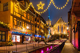 Christmas Saint Martin Church in Colmar, France