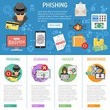 Cyber Crime phishing infographics