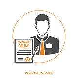 Insurance Agent Flat Icon