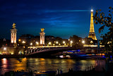 View on night Paris