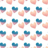 watercolor seamless pattern in pastel colors on white background for Valentine's day.