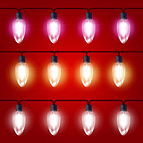 Christmas Lights - festive luminous garland with light bulbs