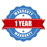 One year warranty seal - round stamp