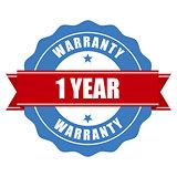 One year warranty seal - round stamp