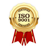 ISO 9001 certified - quality standard golden seal