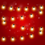 Christmas Lights - festive carnival garland with light bulbs